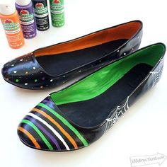 DIY Upcycled painted halloween flats