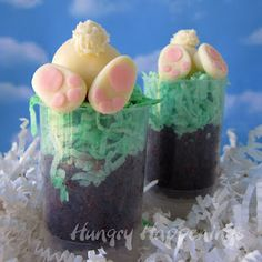 If you or your kids don't like coconut, you can use edible Easter grass :}
