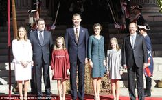Royals & Fashion - King Felipe, Queen Letizia, Princess Leonor and Infanta Sofia attended the opening ceremony of the new parliamentary session held in Madrid.