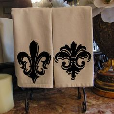 Fleur de Lis French Digital Image Download Sheet Transfer To Pillows Tote Tea Towels Burlap No. 1010.  via Etsy.
