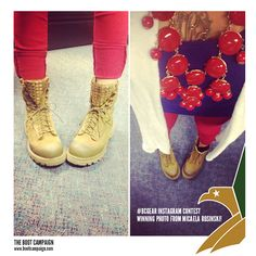 Our very first #BCGear Instagram contest has come to an end and the winner is.... Boot Campaign Supporter, Micaela Rosinski! We LOVE they way you accessorize your Boot Campaign Gear!   You are going to love your new #BCArmor piece from Maison de Morgana!  Huge THANKS to everyone who participated! It was hard to pick just one winner.