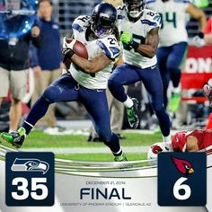 The Seahawks dominated the Cardinals 35-6!! What a great game!!