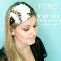 This featherer headband will go perfect with spring parties! Feather Headband, Diy Headband, Headbands, Headband Hairstyles, Diy Hairstyles, Nifty Diy, Diy Gifts To Make, Feather Crafts, Hair Accessories For Women