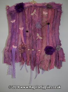Unique Pink Ragged and Tattered Cinderella by RagsForGypsies, £105.00