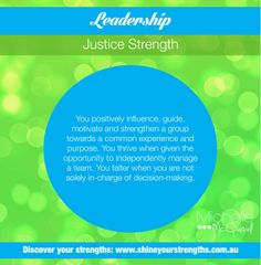 Do you have the strength of leadership? Build this strength by:  •	Organizing an event for your family, friends, colleagues or community. •	Volunteering to lead a project. •	Starting a group such a book club, sports group, etc..  Want to discover more ways to put your strengths to work? Visit www.shineyourstrengths.com.au Self Regulation, Positive Psychology, Teamwork, A Team, Are You Happy, Leadership, Encouragement, Finding Yourself, Strength