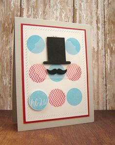 Challenge 315 Winner and Sweet Six Mustache Cards, Mustache Men, Frantic Stamper, Masculine Cards, Stamping, Happy Birthday, Challenges, Paper Crafts, Guys