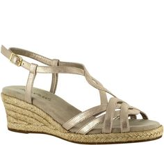 Get your share of both laid-back styles and fancier fashions from Easy Street's versatile espadrille sandals. QVC.com