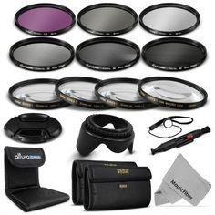 58MM UV CPL FLD FILTER KIT + ALTURA PHOTO ND NEUTRAL DENSITY FILTER SET (ND2, ND4, ND8) FOR CANON REBEL Kit includes: 58mm Vivitar Close-Up Lens Set (+1,+2,+4,+10) + 58mm Vivitar 3 Piece Filter Kit (UV-CPL-FLD) + 58mm Altura Photo 3 Piece ND Filter Set (ND2 / ND4 / ND8) + 58mm Reversible Lens Hood + 58mm Center Pinch Lens Cap + Lens Cap Keeper Holder + Original MagicFiber Cleaning Cloth, Color Gray + Lens Cleaning Pen