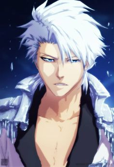 Hitsugaya Toshiro Ver. Adult  (Bleach 671 - The Perfect Crimson 2)  Drawing by :: ©Tite Kubo.  Colored by :: aConst