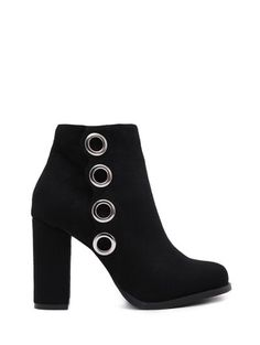 SHARE & Get it FREE   Zip Chunky Heel Metal Ring Ankle BootsFor Fashion Lovers only:80,000+ Items • New Arrivals Daily Join Zaful: Get YOUR $50 NOW!
