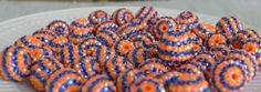 20mm blue orange striped rhinestone bubblegum beads (10ct) gumball beads chunky beads wholesale beads chunky necklace making supply by PinkPolkaDotHearts on Etsy