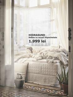 Bucură-te de un somn odihnitor cu ajutorul saltelei HIDRASUND, făcută din materiale organice. Ikea New, Spring Line, Home Decor Trends, Modern, House, Furniture, Komfort, Yurts, Healthy Sleep