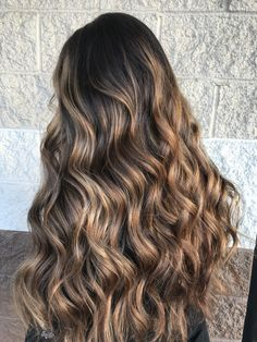 Brown to Carmel balayage