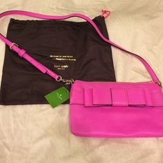 NWT! Kate Spade hot pink purse and dust bag! NWT! Kate Spade hot pink purse and dust bag! kate spade Bags