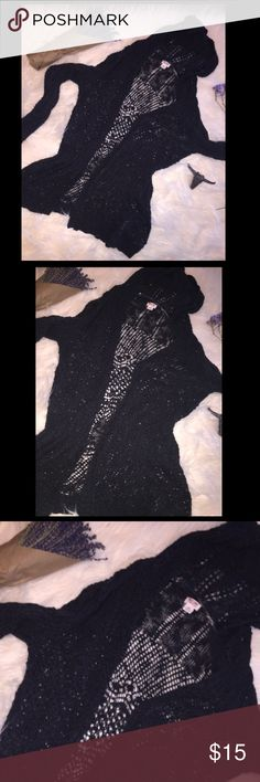 Black Hooded Cardigan 🦄 3 for $20 Black hooded Cardigan in great condition. A staple that every girl should own. This is a re-posh, I live in FL & it's not often that I need to wear a cardigan & I realized I already own enough, so let my loss be your gain! Tag size large (juniors) but this could fit a small-medium as well for a looser fit. This, in addition to any other item in my closet marked w/🦄 sign is 3 for $20! check out my other 🦄 items. Simply add 3 of those items & then offer $20…