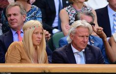 Blending in: Tennis' heartthrob Bjorn Borg and his wifePatricia alsotook pride of place ...