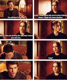 boy, cry, drama, girl, hurting, liars, lies, love, pretty little liars, rosewood, secret, spencer, spoby, toby, trust
