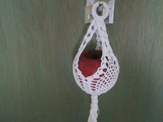 Ornament Crocheted by SuzannesStitches, Easter Egg Hanger, Crochet Home Decor, Cotton Ornament, Crocheted Easter Ornament, White Easter Egg by SuzannesStitches on Etsy