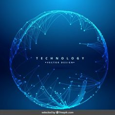 Technology background with circular mesh