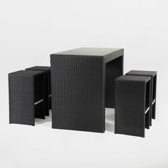 Serenity Outdoor Bar Set made by Elements. Welcome to LuxeYard.com  ~ Good idea for small spaces ~