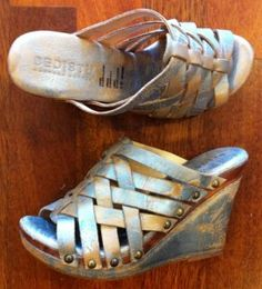 This classic BedStu update is so fun in the new Silver Lux Leather, Gina is Handcrafted in Mexico.  $124.95  http://elosshoes.com/