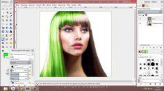 Gimp 2.8 Tutorial #2 Haarfarbe ändern [720p HD] DEUTSCH (Leichte Version)