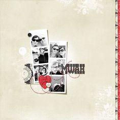 You Charmer Template by Mye De Leon Scrapbook Paper, Scrapbook Layouts, Love Fest, Layout Inspiration, Smash Book, Digital Scrapbooking, Challenges, Paper Crafts, Creative