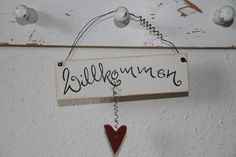 Schild-Willkommen von Nicki's Holzkiste auf DaWanda.com