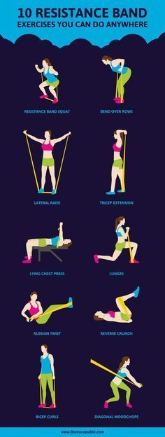 Whether you're traveling or stuck late at work, all you need is a resistance band to fit in a killer full-body workout.
