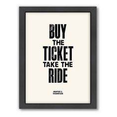 Take the ride.