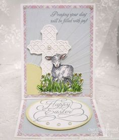 Our Daily Bread Designs Stamp sets: The Shepherd, Easter Blessings, Flourished Happy Easter, Our Daily Bread Designs Paper Collection: Pastel Paper Pack 2016, Our Daily Bread Designs Custom Dies: Ornamental Crosses, Circles, Double Stitched Circles, Double Stitched Rectangles, Rectangles, Little Lamb