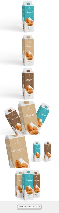 Activated Almond Milk (Concept) - Packaging of the World - Creative Package Design Gallery - http://www.packagingoftheworld.com/2017/03/activated-almond-milk-concept.html