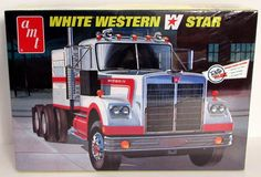 """This truck model kit of a White Western Star Tractor is made by AMT in 1/25 scale. - Optional air conditioner - """"Mercury"""" sleeper - Cummins NTD-350 6-cylinder turbocharged diesel engine - """"Spicer"""" 16"""
