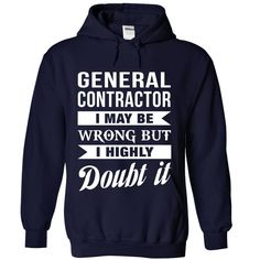 (Tshirt Perfect T-Shirt) GENERAL-CONTRACTOR Doubt it Coupon 5% Hoodies Tees Shirts