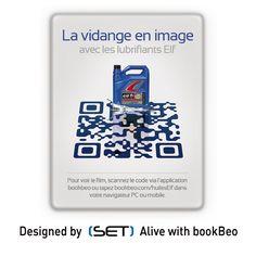 QR Code bookBeo designé pour Total Lubrifiants (Elf). Tapas, Applications, Qr Codes, 2d, Communication, Coding, Marketing, Design, Design Comics