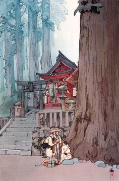 "archatlas: "" The Art of Hiroshi Yoshida Hiroshi Yoshida was a 20th-century Japanese painter and woodblock printmaker. He is regarded as one of the greatest artists of the shin-hanga style, and is..."