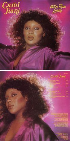 "Carol Jiani ""Hit 'n Run Lover"" Old School Music, World 7, Music Album Covers, Vintage Black, 1980s, Wax, Lovers, Running, Concert"