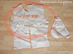 Diy tutorial How to Make a Dress Pattern from an Old clothes? Jak zrobić nowy wykrój ze starych ubrań?