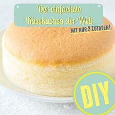 Der einfachst Käsekuchen der Welt mit nur 3 Zutaten - Hier gibts das Rezept >> http://eatsmarter.de/ernaehrung/gesund-ernaehren/japanischer-kaesekuchen-mit-3-zutaten