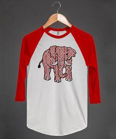 Red & White Elephant Raglan Tee #zulily #zulilyfinds