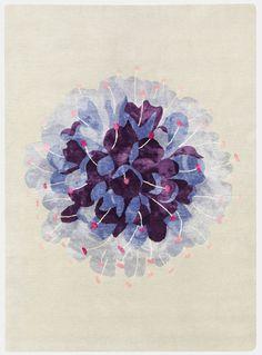 Botanical carpet design by Deirdre Dyson. #rug #flora
