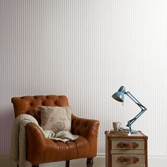Buy John Lewis Ticking Stripe Wallpaper
