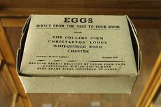 """Organic Egg Carton . . . Love The Wording . . .  """"From The Nest""""."""