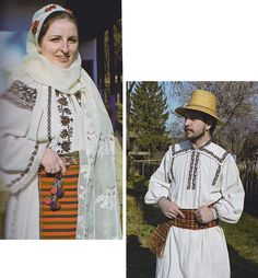 Teleorman, Muntenia (Wallachia) Folk Clothing, Medieval Clothing, Folk Costume, Costumes, Ethnic Diversity, Panama Hat, Sari, The Incredibles, Traditional
