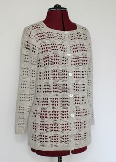Осинка Crochet Jacket, Crochet Cardigan, Crochet Shawl, Crochet Curtain Pattern, Crochet Curtains, Baby Knitting Patterns, Crochet Patterns, Crochet Stitches Chart, Lidia Crochet Tricot