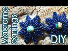 DIY Tutorial - Leaf Earrings フラワーリーフイヤリングの作り方【マクラメ編み】 - YouTube