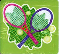 "MP11 Crossed Racquets Mouse Pad  Kristin Elliott 8"" x 7 1/2"". Made with skid-resistant rubber base. $8.95"