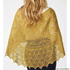 Желтая ажурная шаль «Beausoleil»