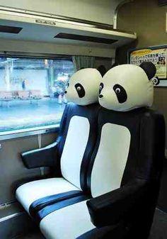 Über Fashion Marketing: Über-Cute: Assento de trem em formato de panda