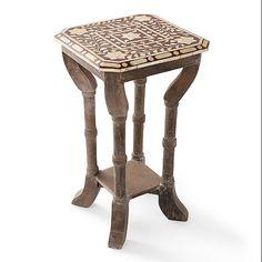 Bone In-Lay Side Table